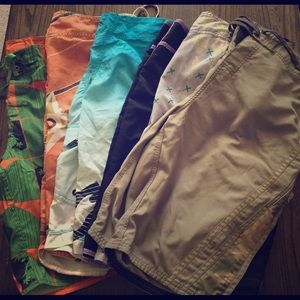 Pack of 6 board shorts bathing suits swim trunks